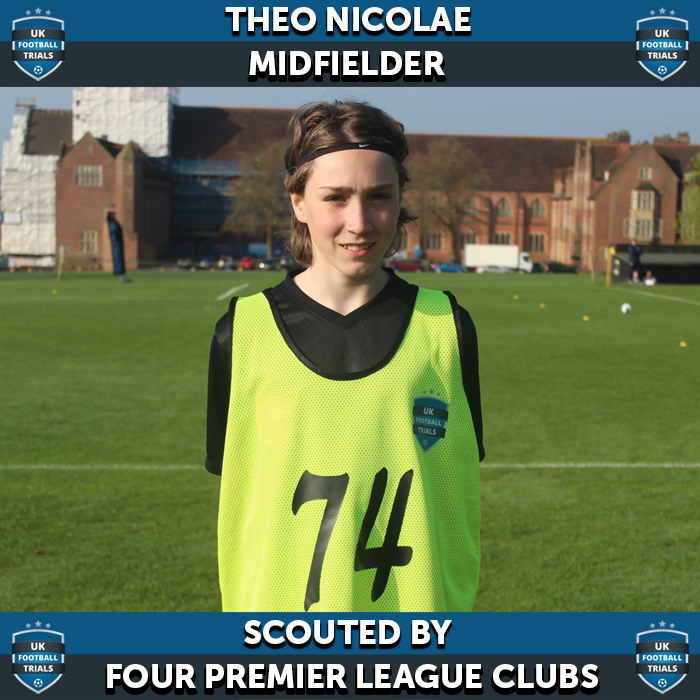 UK Football Trials - Theo Scouted by 4 Premier League Clubs from 5