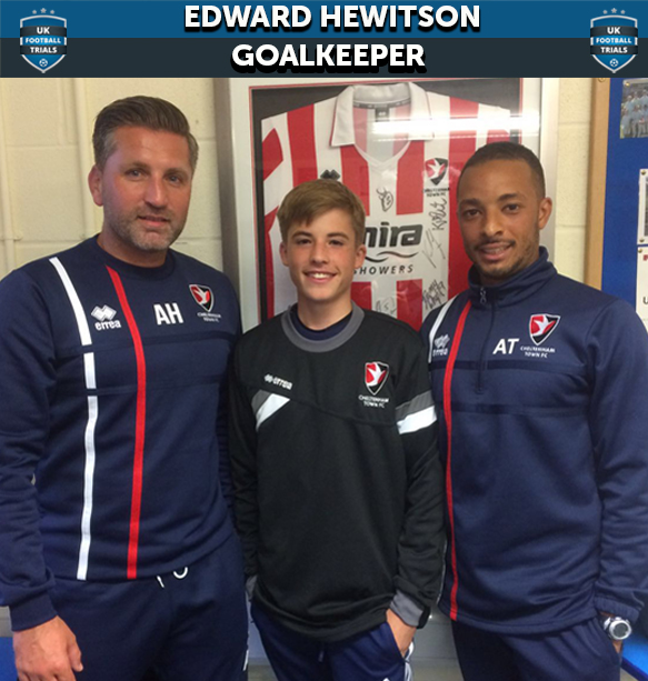 "Cheltenham Town ""found it impossible to say no"" to Edward as 15-Year-Old 'Keeper Signs"