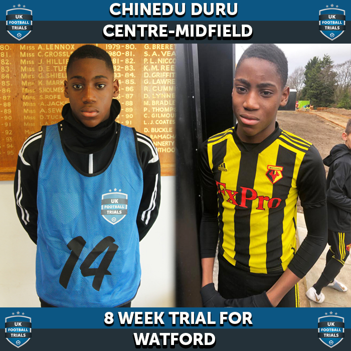 Chinedu Duru - Aged 12 - Trial for Watford