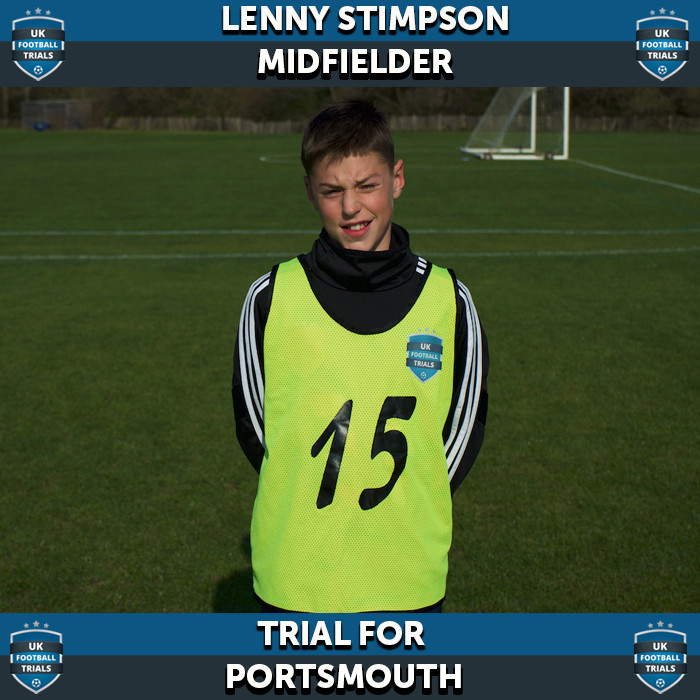 Lenny Stimpson - Aged 11 - Trial for Portsmouth