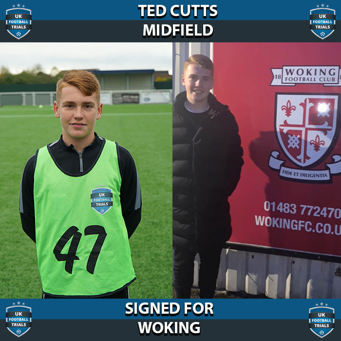 Ted Cutts - Aged 16 - SIGNED for Woking