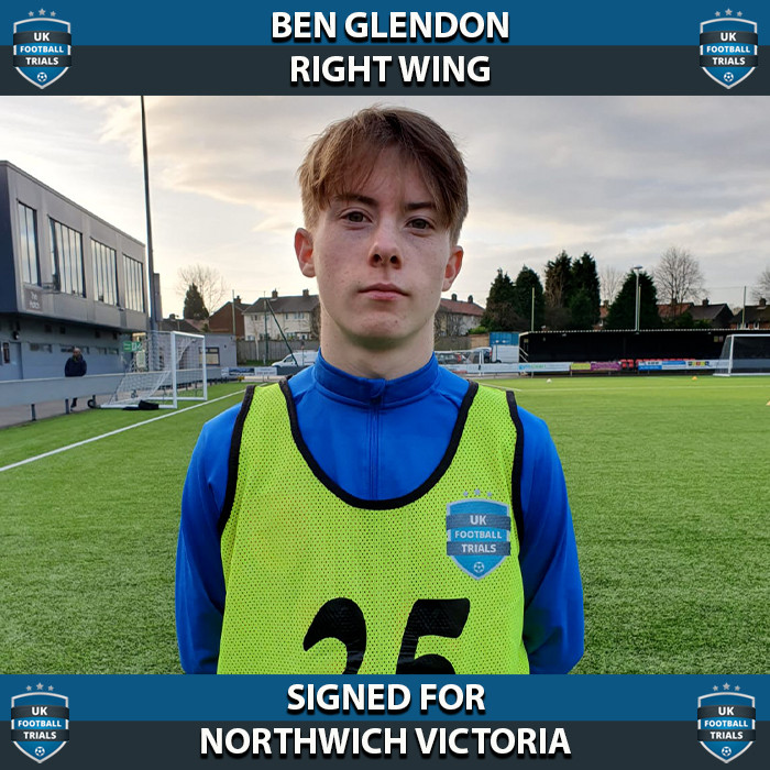 Ben Glendon - Aged 17 - SIGNED for Northwich Victoria