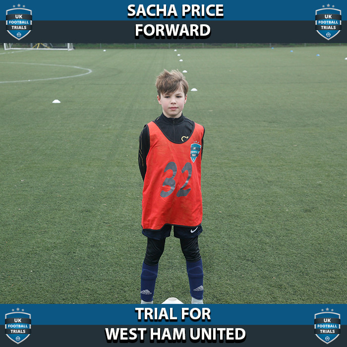 Sacha Price - Aged 10 - Trial for West Ham United