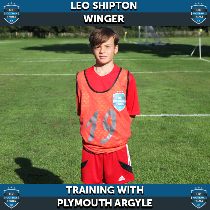 Leo Shipton - Aged 12 - Training with Plymouth Argyle