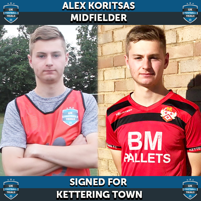 Alex Koritsas - Aged 19 - Playing for U21's for Kettering Town