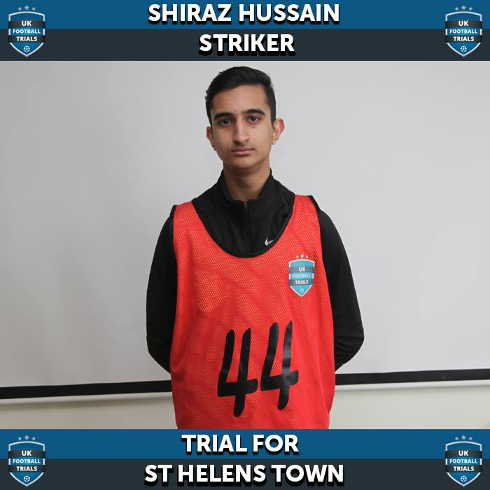 Shiraz Hussain - Aged 15 - Trial for Semi-Pro Club St Helens