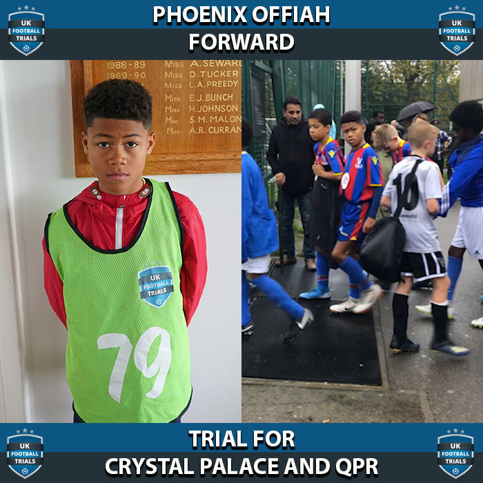 Phoenix Offiah - Aged 10 - Trial for Crystal Palace and QPR