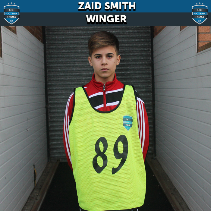 Zaid Smith - Aged 14 - Scouted by Everton FC & Five Other Clubs
