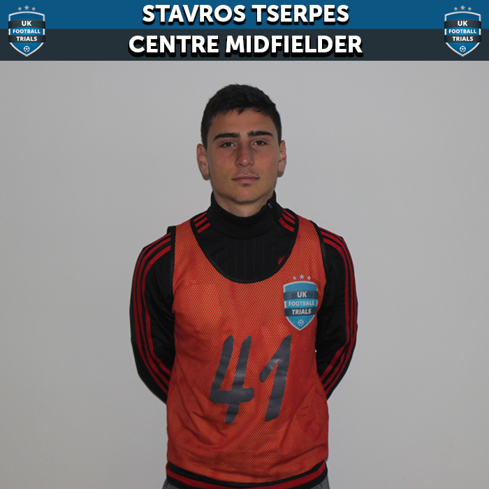 Stavros Tserpes - Aged 18 - Offer to Sign with Tranmere Rovers