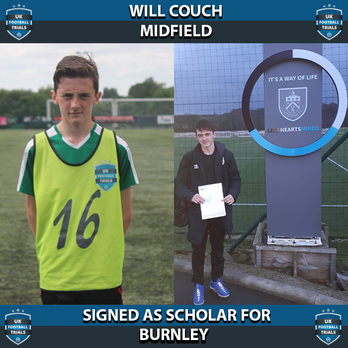 Will Couch - Aged 15 - Signed as Scholar for Burnley