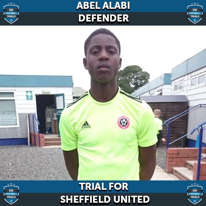Abel Alabi - Aged 15 - Trial for Sheffield United