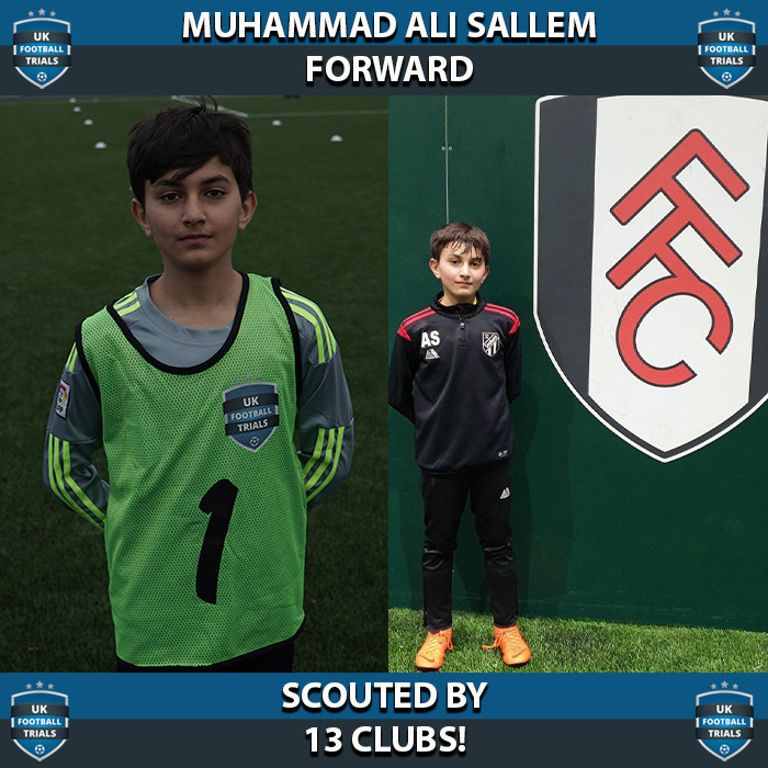 Muhammad Ali Sallem - Aged 11 - Scouted by 13 Clubs!