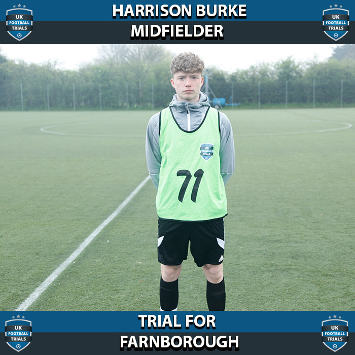 Harrison Burke - Aged 16 Offered Scholarship By Farnborough