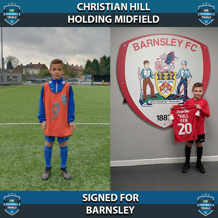Christian Hill - Aged 10 - SIGNED for Barnsley