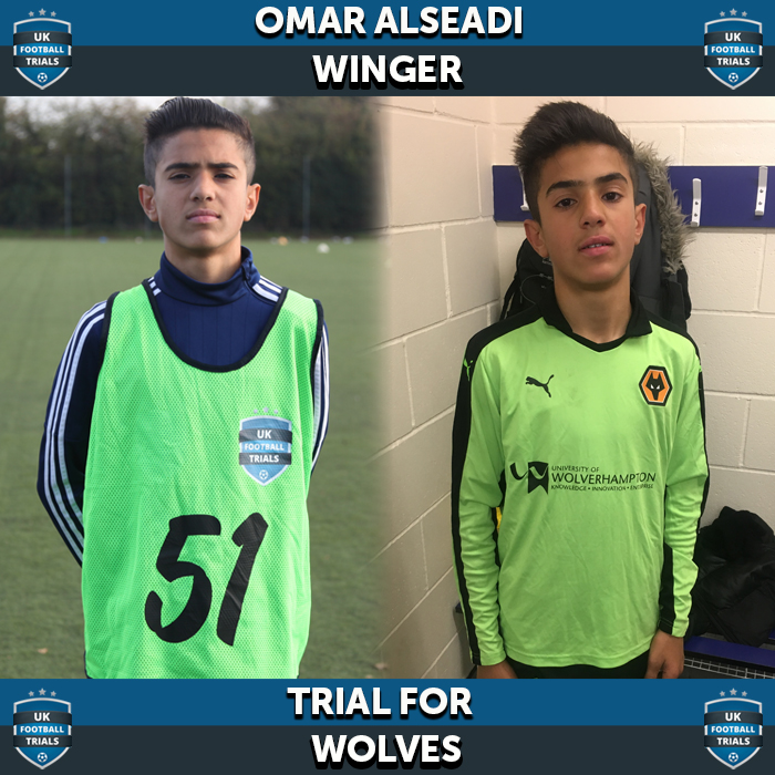Omar Alseadi - Aged 13 - Trial for Wolves